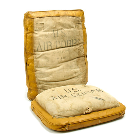Original U.S. WWII Boeing B-17 Flying Fortress Cockpit Seat Cushions