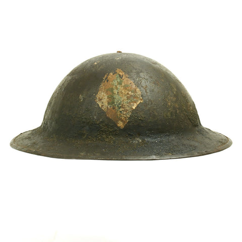 Original U.S. WWI M1917 Named Doughboy Helmet 103rd Infantry Regiment with Textured Paint