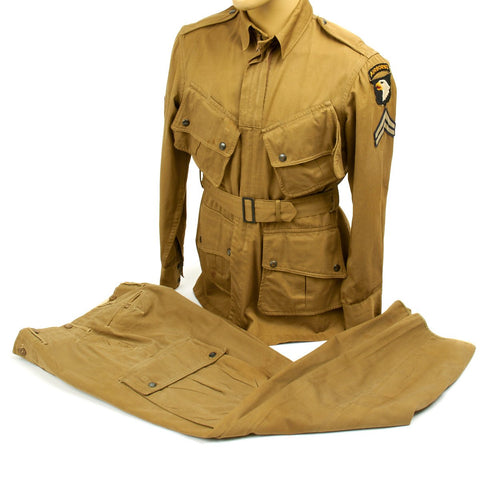 Original U.S. WWII 101st Airborne M1942 Named Paratrooper Uniform