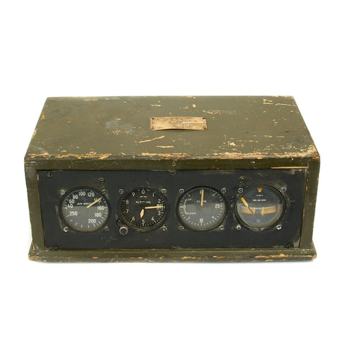 Original U.S. WWII Army Air Force Remote Training Instrument Panel Dated 1943