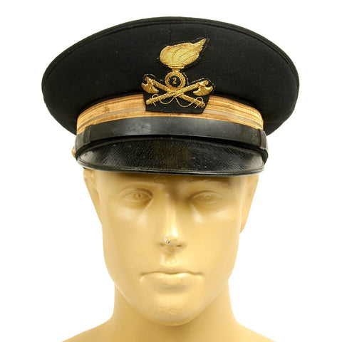 Original WWII Royal Italian Army Engineers Officer Peaked Visor Cap - 2nd Regiment