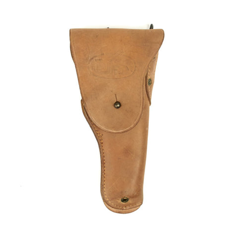 Original U.S. WWII M1916 .45 Boyt 1944 Dated Leather Holster - Mint Unissued Condition