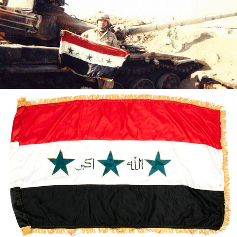 Original Iraqi Battle Flag - Operation Iraqi Freedom Bring Back Original Items