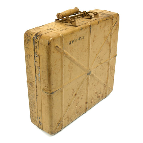 Original German WWII 3.7 cm Flak 18 AA Gun Ammunition Shell Case