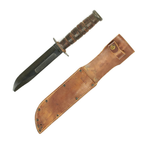 Original U.S. WWII USN Camillus Mk 2 Type 1 Fighting Knife - Named and Dated 1944 Original Items