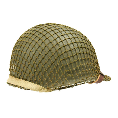 Original U.S. WWII M1 Schlueter Fixed Bale Helmet with CAPAC Liner