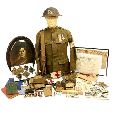 Original U.S. WWI Named 26th Infantry Division Ambulance Grouping - Private Joseph Albert Rich Original Items