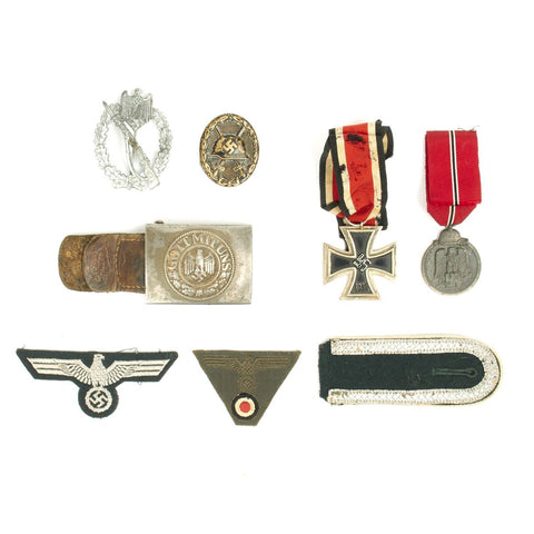 Original German WWII Heer Army Medal and Insignia Grouping Original Items