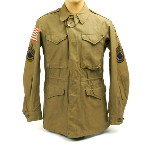 Original U.S. WWII 17th Airborne Division M-1943 M43 Field Jacket