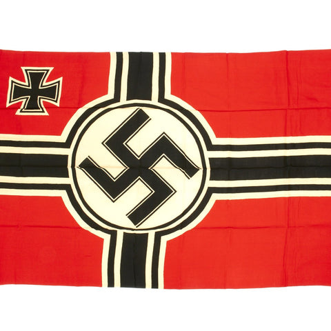 Original German WWII Kriegsmarine Naval Battle Flag with Wartime Markings 110cm x 170cm
