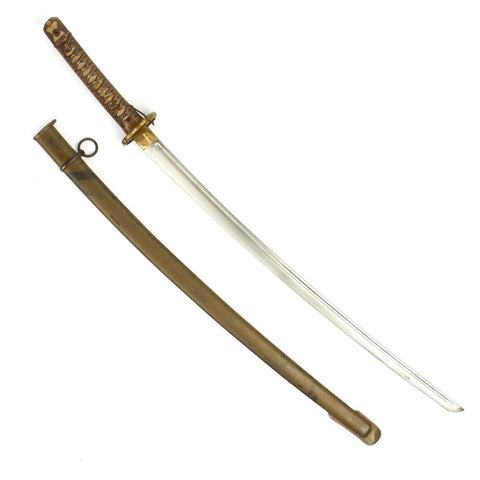 Original WWII Japanese Army Type 95 NCO Katana Samurai Sword with Matching Serial Numbers
