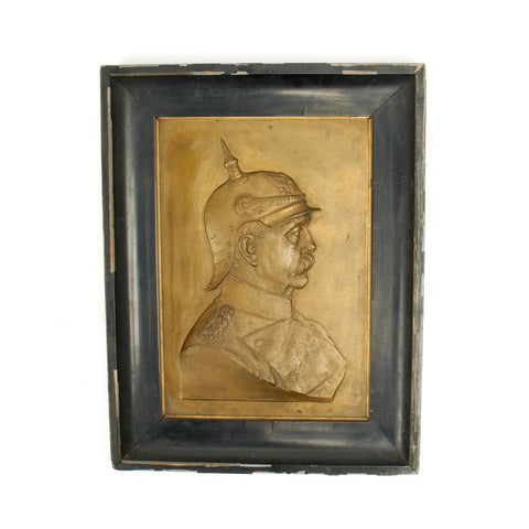 Original German 1880s Bronze Plaque of Bismarck by Hugo Heck