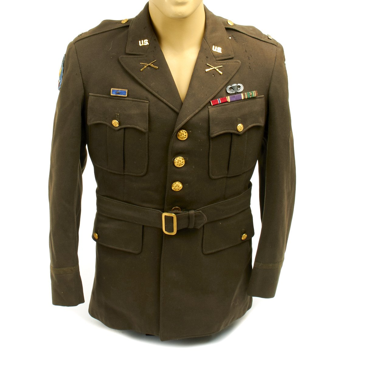 Original U S  WWII 101st Airborne Class A Uniform Jacket
