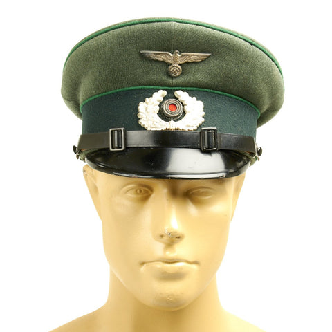 Original German WWII 99th Gebirgsjäger Regiment Mountain Troop NCO Visor Cap - Dated 1935 Original Items