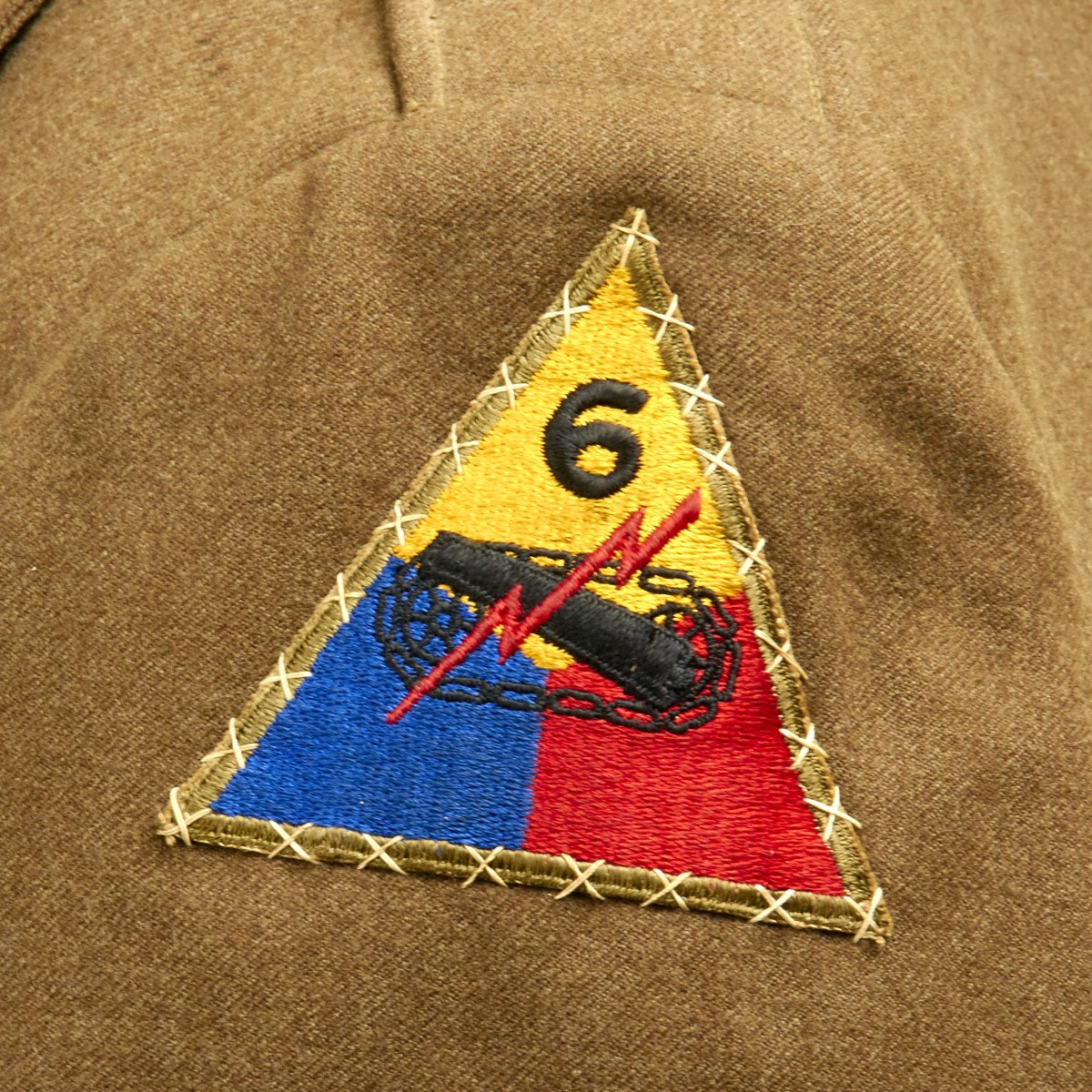 Original U S  WWII 3rd Armored and 6th Armored Division Ike Jacket