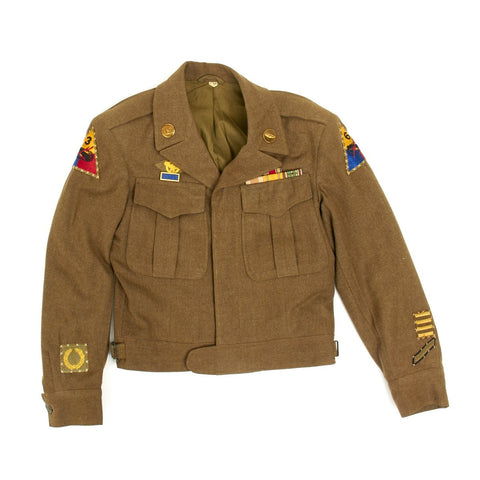 Original U.S. WWII 3rd Armored and 6th Armored Division Ike Jacket Uniform