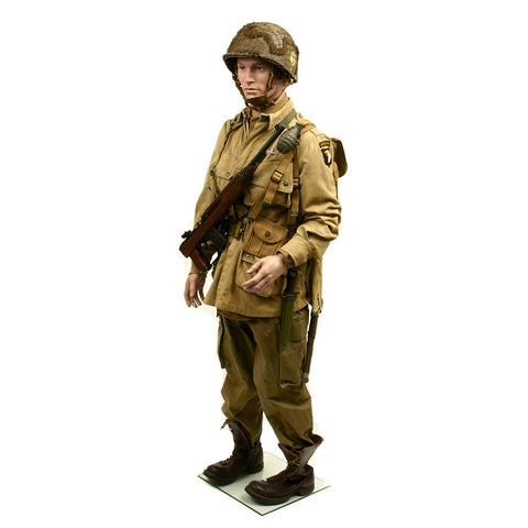 Original U.S. WWII 101st Airborne Division Paratrooper Grouping with Full Size Mannequin Original Items