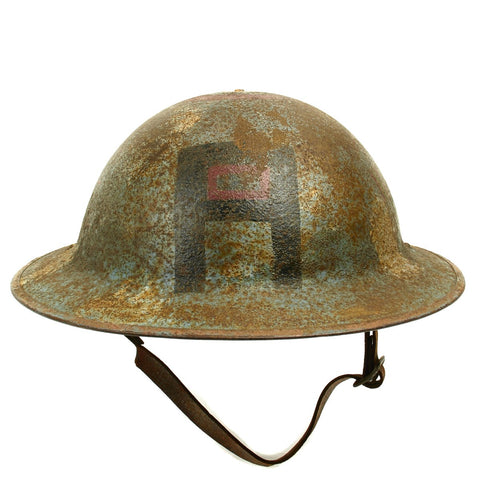 Original U.S. WWI M1917 Doughboy AEF First Army Air Service Painted Helmet