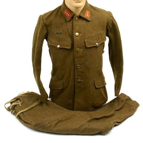 Original Japanese WWII Army Superior Private Wool M1938 Field Uniform with Maker Markings