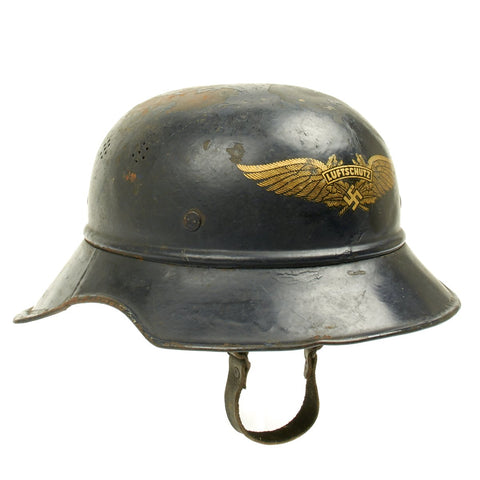 Original German WWII M38 Luftschutz Air Defense Gladiator Helmet