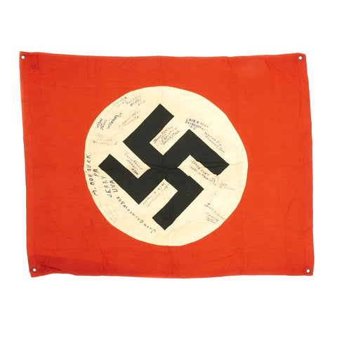Original German WWII Tank Identification Swastika Flag USGI Signed  60th Infantry Regiment Bring Back Trophy