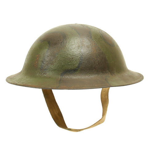 Original U.S. WWI M1917 A.E.F. Doughboy Helmet with Camouflage Paint