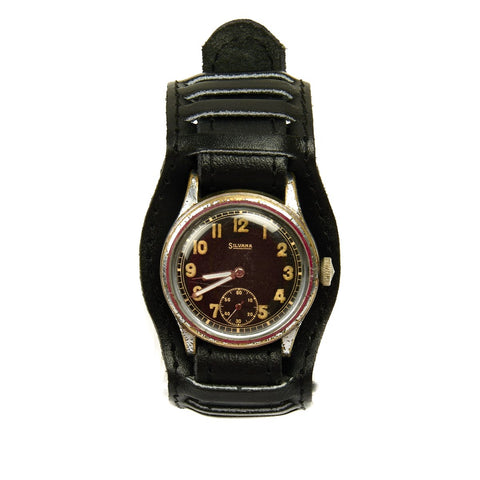 Original German WWII Wehrmacht D-H Wrist Watch by Silvana - Fully Functional