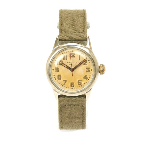 Original U.S. WWII Russian Lend Lease Program 17-Jewel Wrist Watch by Waltham - Fully Functional