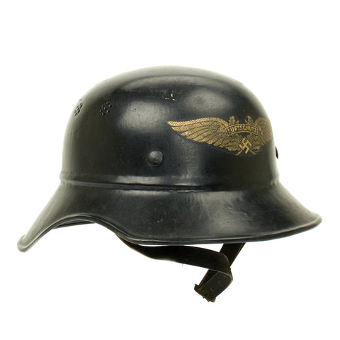 Original German WWII M38 Luftschutz Air Defense Gladiator Helmet Original Items