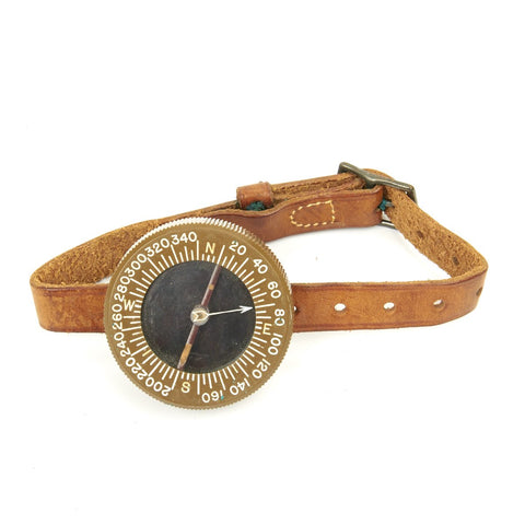 Original U.S. WWII Paratrooper Wrist Compass by Superior Magneto Corp Original Items