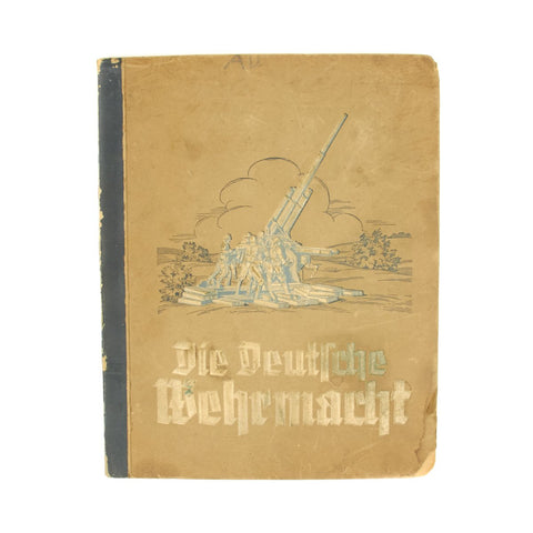 Original German WWII Die Deutsche Wehrmacht 1936 German Cigarette Album - Complete with 270 Photos