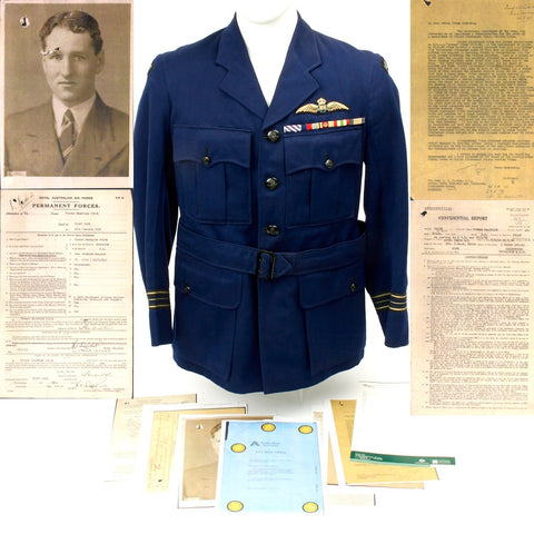 Original WWII Royal Australian Air Force Distinguished Flying Cross Pilot Grouping Original Items