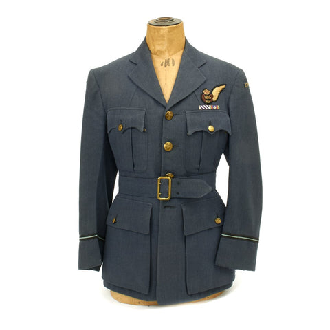 Original WWII Royal Canadian Air Force Wireless Operator Air Gunner Tunic - Distinguished Flying Cross Original Items