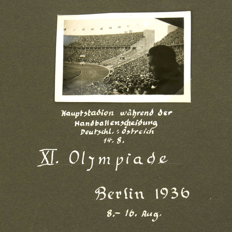Original German Pre-WWII Army Officer Personal Photo Album - 1936 Olympics