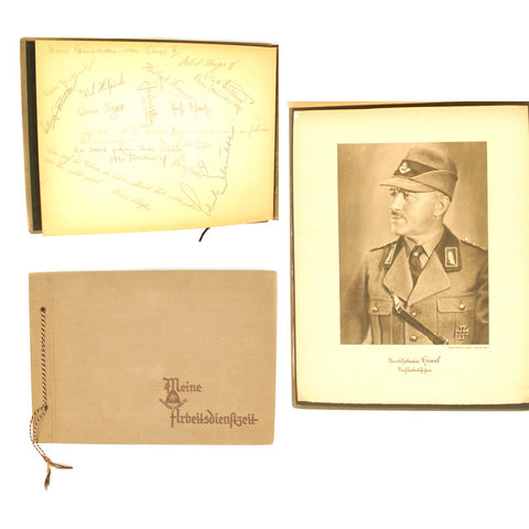Original German WWII RAD Reich Labour Service Officer Personal Signed Photo Album