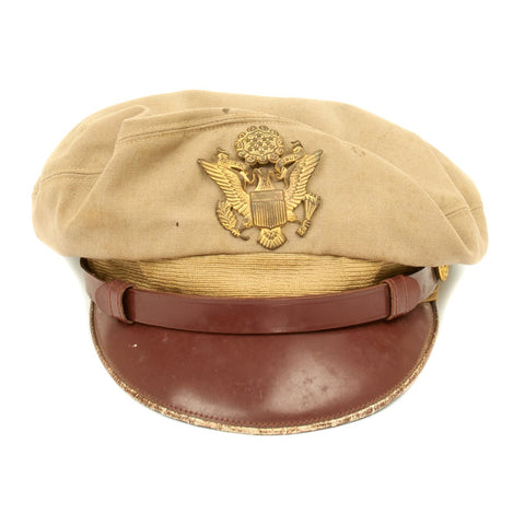 Original U.S. WWII USAAF Officer Khaki Crush Cap