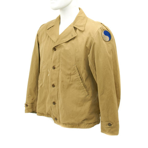Original U.S. WWII 29th Infantry Division M-1941 Field Jacket