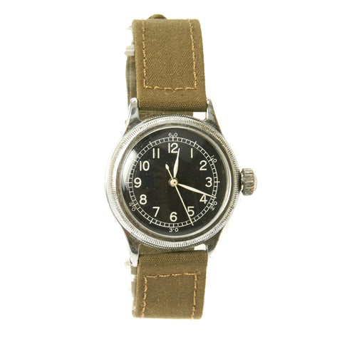 Original U.S. WWII 1944 Type A-11 USAAF Wrist Watch by Bulova - Fully Functional Original Items