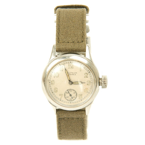 Original U.S. WWII 1943 Army 17-Jewel Wrist Watch by Waltham - Fully Functional Original Items