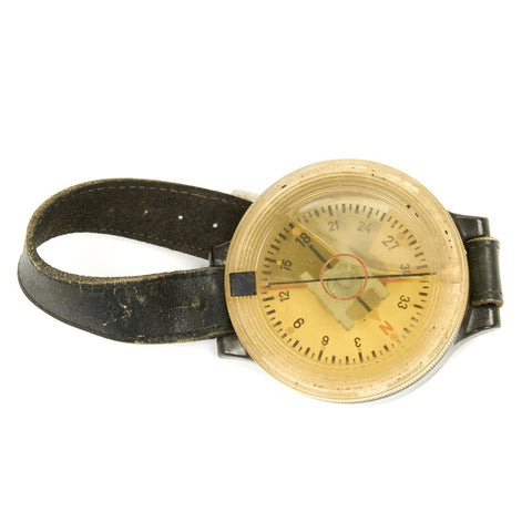 Original WWII German Luftwaffe Aviator AK 39 Wrist Compass by Kadlec Original Items
