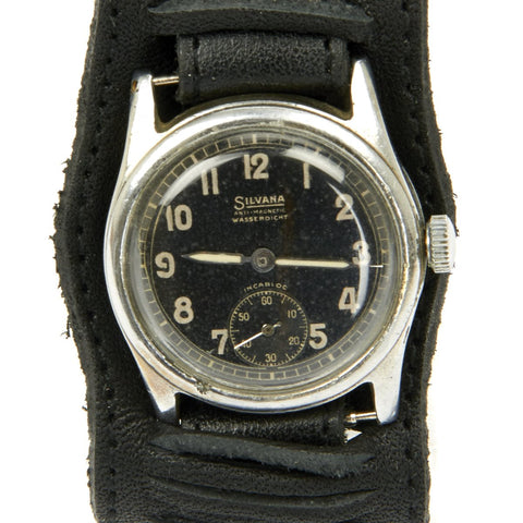 Original German WWII Wehrmacht D-H Waterproof Wrist Watch by Silvana - Fully Functional