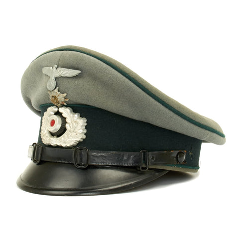 Original German WWII Gebirgsjäger Mountain Troop NCO Visor Cap by Wilhelm Kern Original Items
