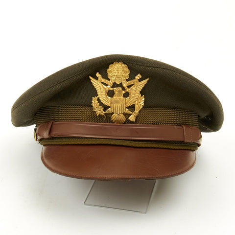 Original U.S. WWII USAAF Named Officer Crush Cap by Columbia Flight