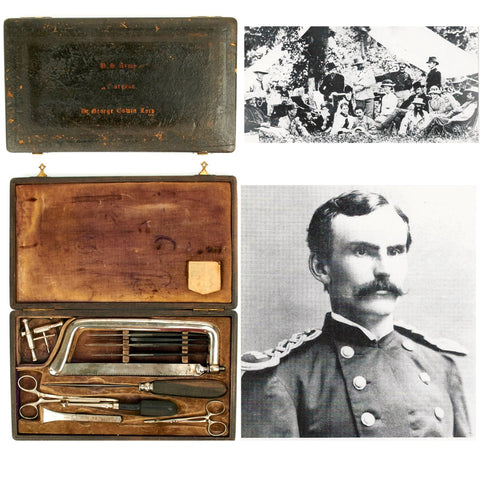 Original U.S. Battle of Little Big Horn Army Surgical Kit of Dr. George Edwin Lord - KIA Original Items