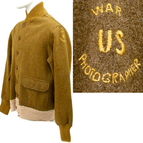 Original U.S. WWII War Photographer Jacket - Made in England Original Items