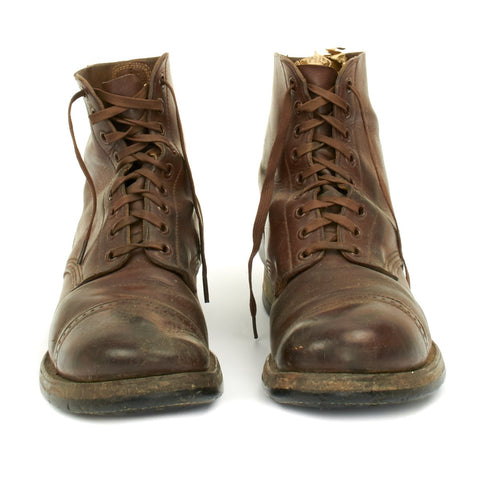 Original U.S. WWII Model 1939 American Service Shoe Low Boot Dated 1942 - Size 11