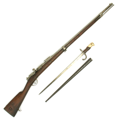 Original French Fusil Gras Modèle 1874 M80 with Bayonet