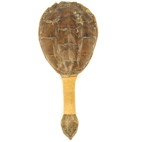 Original 19th Century Seneca Indian Snapping Turtle Rattle