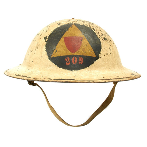Original U.S. WWI M1917 WWII Civil Defense Auxiliary Police Corps Helmet
