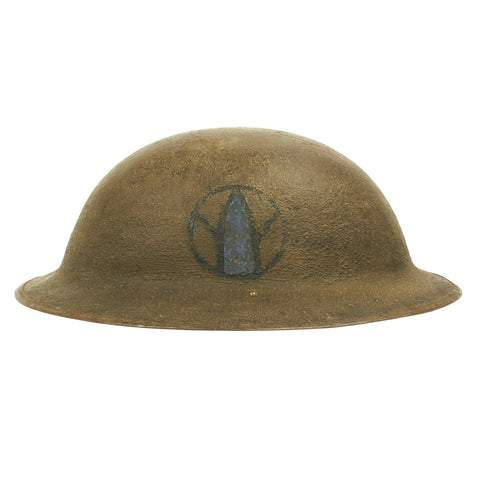 Original U.S. WWI M1917 Doughboy Named Helmet - 89th Division The Rolling W Original Items